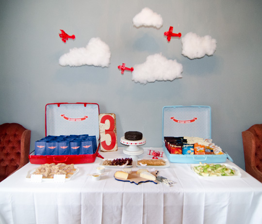 ... since she is obsessed with airplanes having an airplane party was a