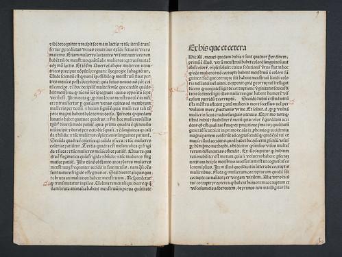 Nota marks in Albertus Magnus [pseudo-]: Secreta mulierum et virorum (cum expositione Henrici de Saxonia)