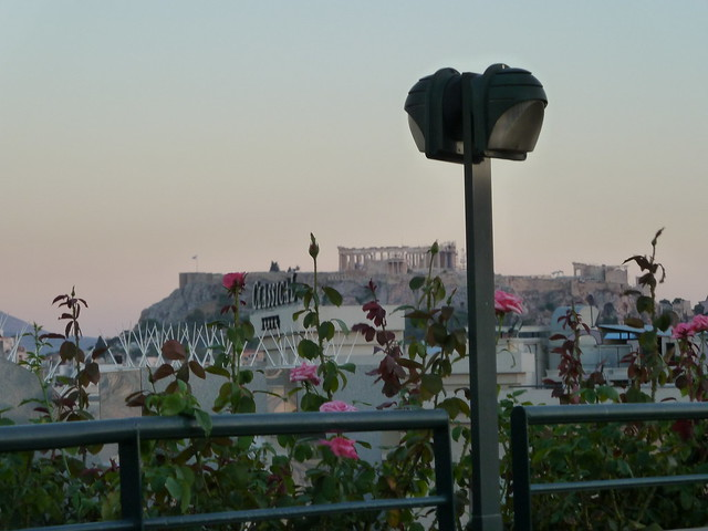 View of Acropolis from Roof of Our Hotel