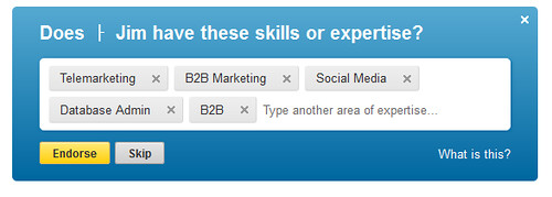 Linkedin Blue Box