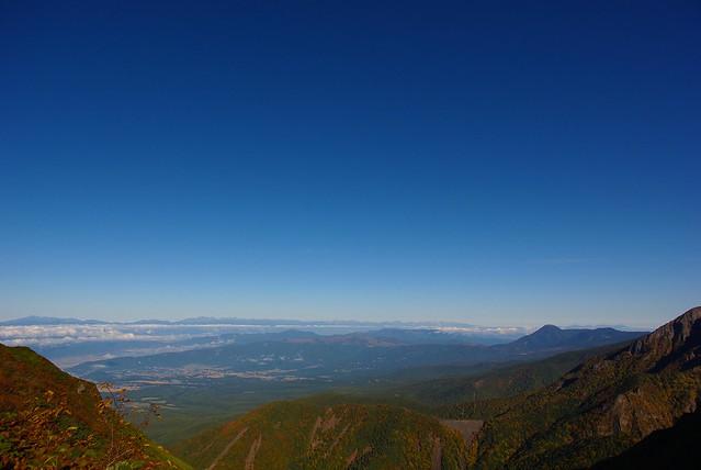 権現岳からみる北アルプス山塊