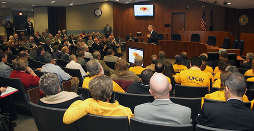 Agriculture Secretary Tom Vilsack speaks at the opening session of a Federal Drought Workshop in Omaha, NE on Tuesday, Oct. 9, 2012. This was the first of four regional workshops to outline resources available to assist with drought recovery effort.