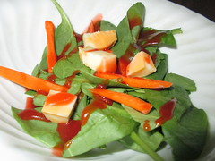 Spinach Salad With Catalina Dressing.