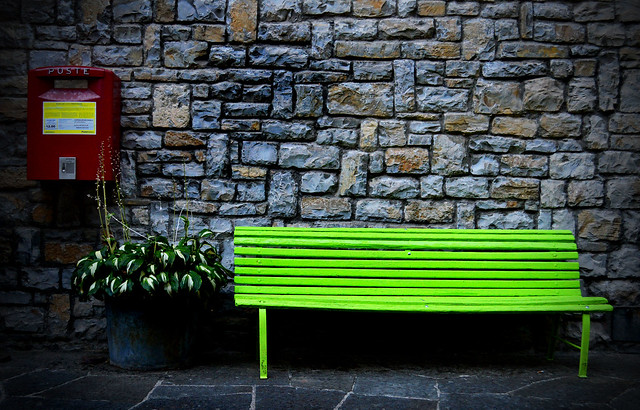 Bench. At Caprese Michelangelo, Tuscany