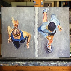 finished. #figurativeart #aerial #impressionism #runners #artcollector #interiordesign