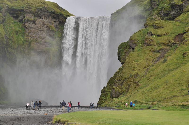 Islandia - cascada waterfall Skógafoss 60m