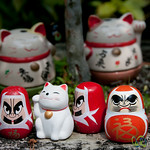 Cats and Daruma Statues at Daisho-In Temple - Miyajima, Japan