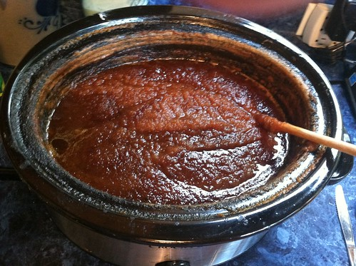 making pear butter