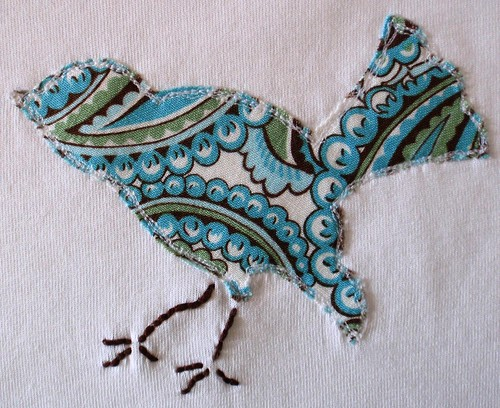 bird applique close up