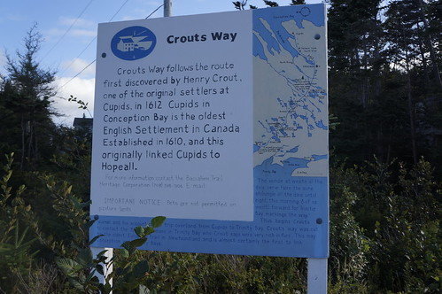 Crout's Way sign in Hopeall, Trinity Bay.