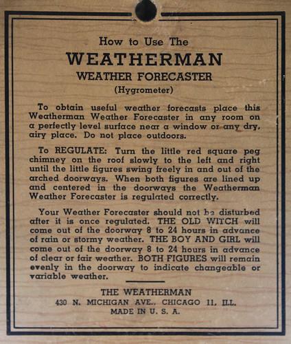 Weatherman Back