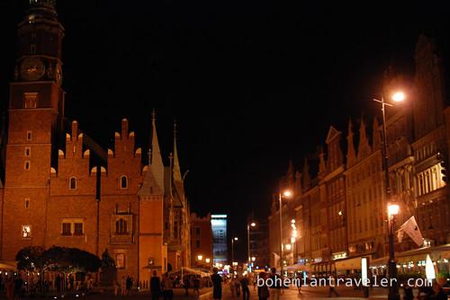 Wroclaw Market Sqaure Rynek at night