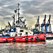 Tug Boats at Hamburg Harbor