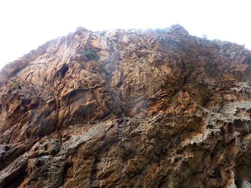 Canyon du Carciara : les parois en RD
