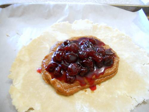 Sour Cherry Biscoff Crostatas