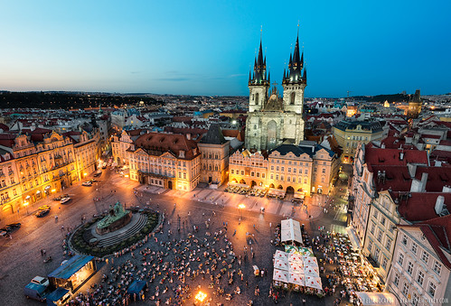 Prague By Night - (Old Town Square, Czech Republic)