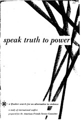 "1955: Published ""Speak Truth to Power"" in midst of McCarthy era"