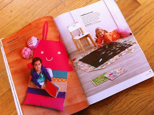 bunny nap roll and chalkboard mat projects from Stitch!
