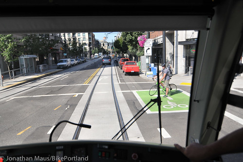 Riding the new streetcar line-9