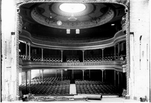 theatre royal from the stage refurbished after the fire. Black Bedroom Furniture Sets. Home Design Ideas