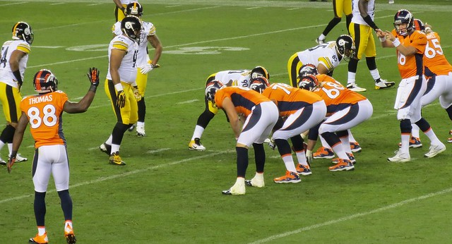 Audible to Thomas, Broncos vs Steelers 2012 from Flickr via Wylio