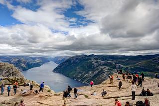 View of Lysefjorden from Preikestolen #2