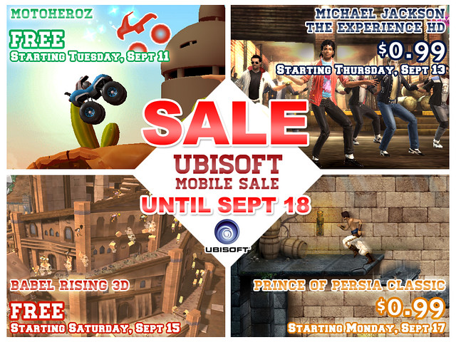Ubisoft Discounted/Free Mobile Games; Limited Time Only