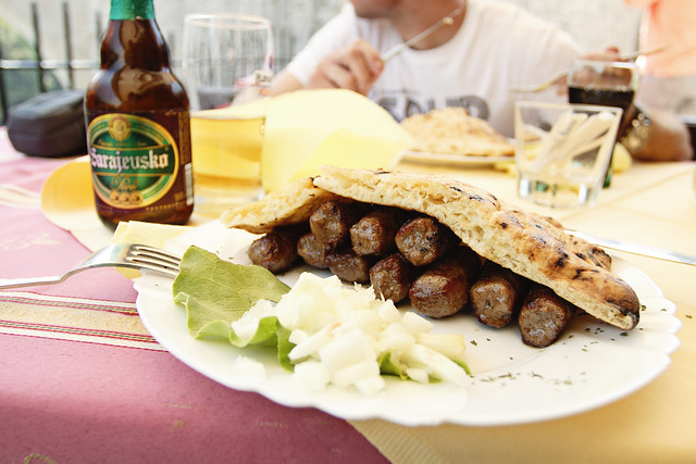 Cevapcici in Mostar Old Town