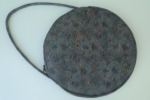 embroidered circle purse