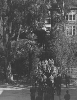Military cadets on campus in 1943