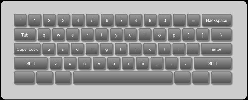Touch Keyboard UI Element