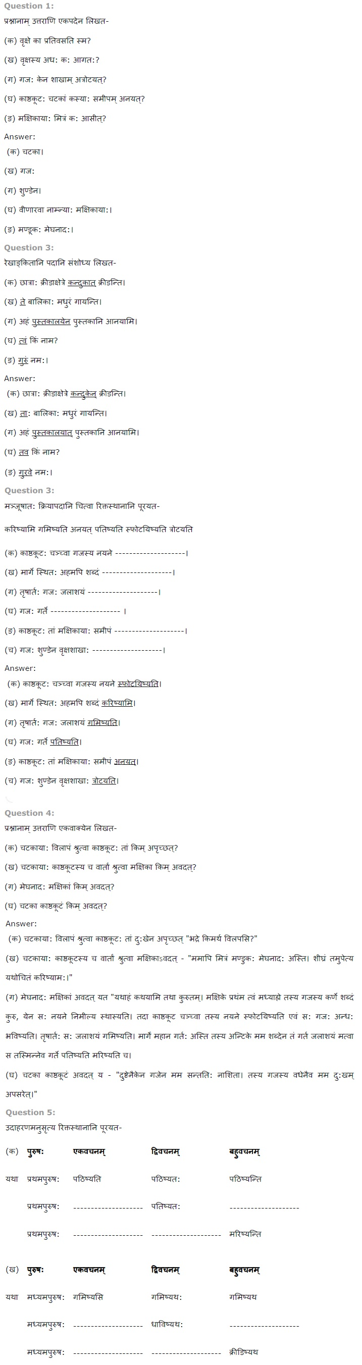 NCERT Solutions For Class 7 Sanskrit Chapter 11 समवाये ही दुर्जय PDF Download
