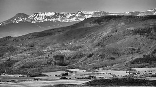 View of the Flat Tops.  Double-R, Steamboat Springs, CO.