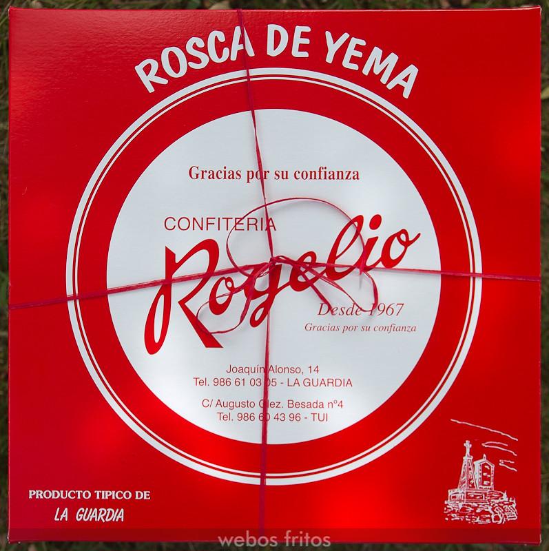 Rosca de yema Rogelio envuelta