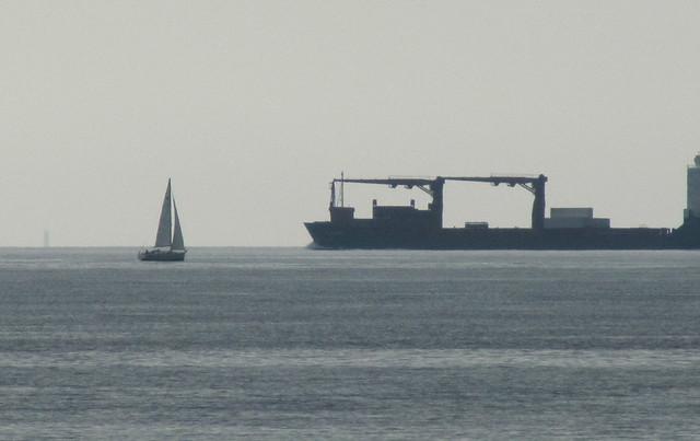 Barcos que se cruzan