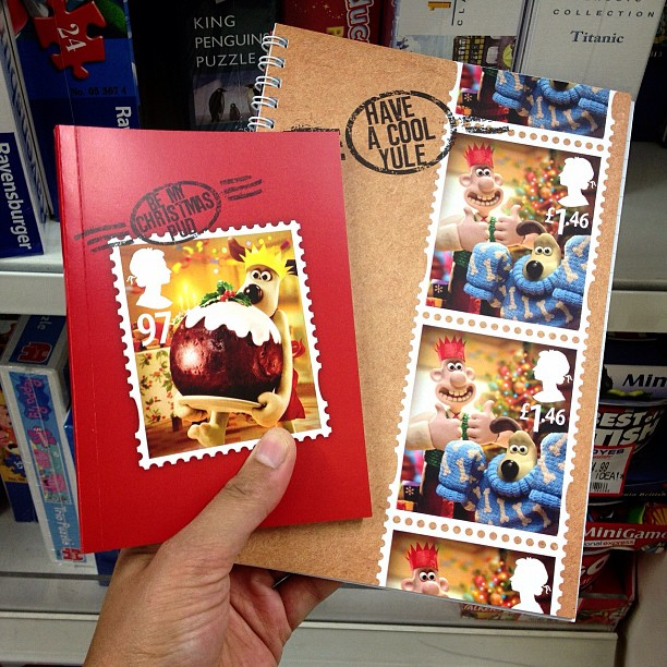 Love these #wallace and #gromit #stamps #notebooks. I didn't buy any though