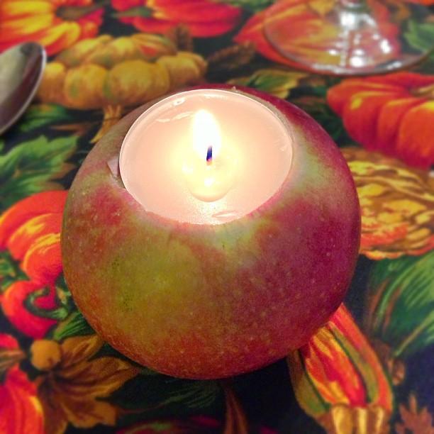how to make apple tea lights