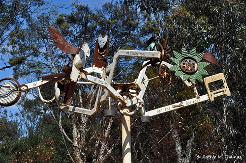 Sculpture in the Australian outback section