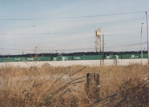 The Burlington Northern Railroad Clyde Yard locomotive terminal.  Cicero Illinois.  November 1989. by Eddie from Chicago