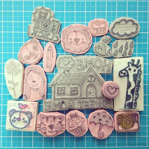 How to carve eraser stamps reg silva