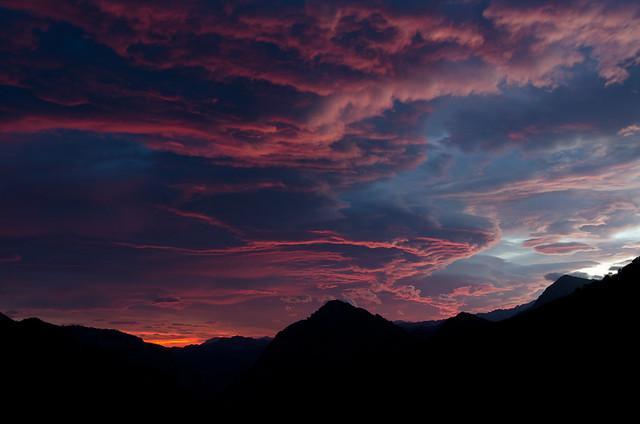 Amanecer en Valle Moru, Ponga, Asturias