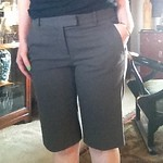 Theory khaki walking shorts from tag sale in Brookville