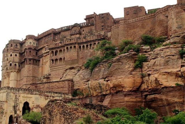 La fortaleza de Mehrangarh. Jodhpur, Rajastán, India.