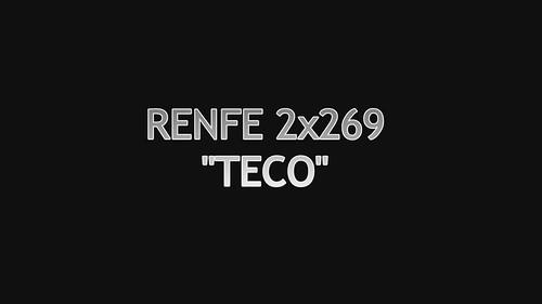 RENFE 2x269 con TECO en la estación de Sariñena