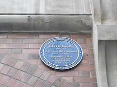 Photo of Keith Moon blue plaque