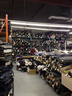Sultan's Fine Fabrics -- view from one section of wool suiting and coating!