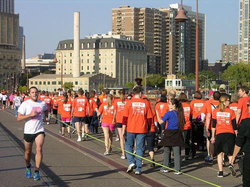 2012 Big Gay Race walking start, running finish