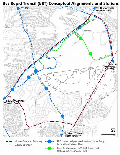 Potential BRT Routes in White Oak