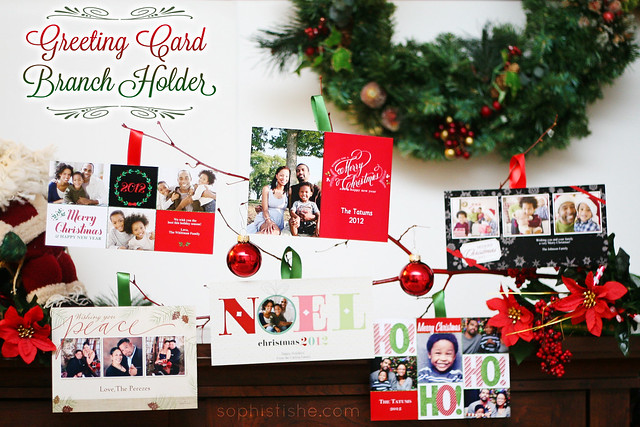 Holiday Craft: Greeting Card Branch Holder