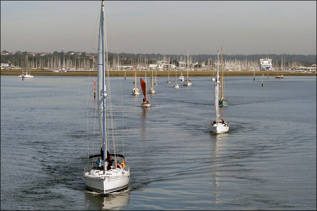 View back to Lymington